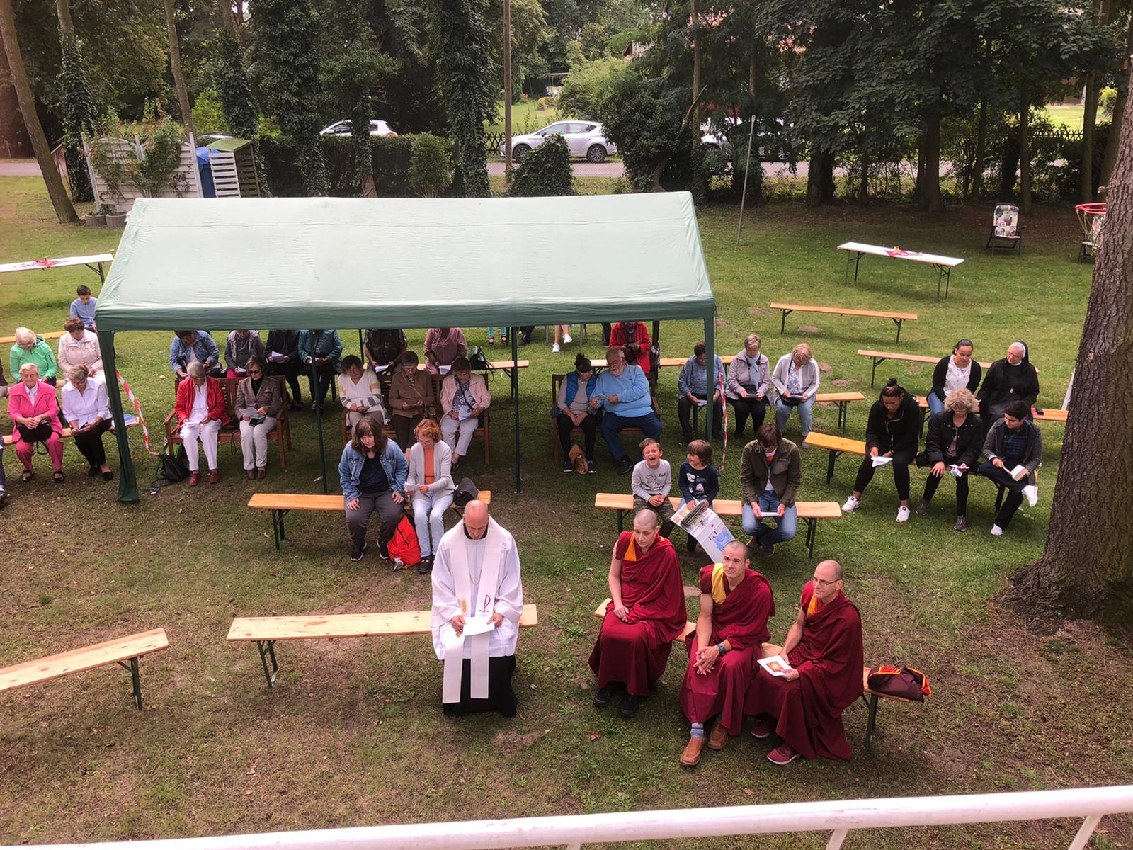 Interfaith worship is celebrated at the Farm in Riewend, Germany