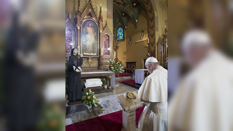 Pope: Saint Faustina invites us to return to the source of mercy